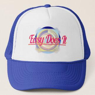 EASY DOES IT logo style Trucker Hat