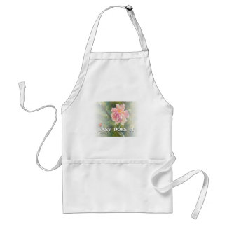 Easy Does It Pink Rose Adult Apron
