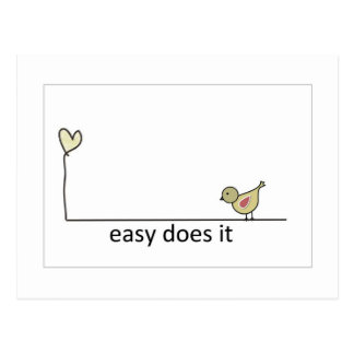 easy does it postcard