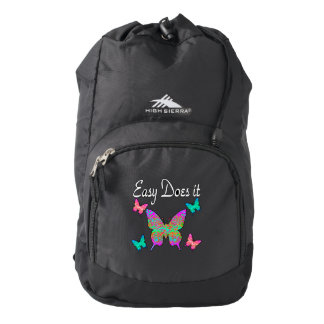 EASY DOES IT PRETTY BUTTERFLY DESIGN BACKPACK