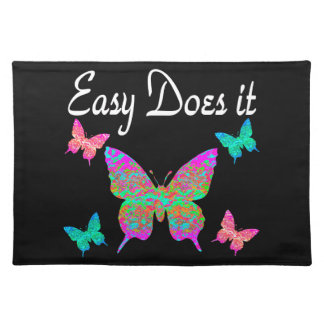 EASY DOES IT PRETTY BUTTERFLY DESIGN CLOTH PLACEMAT