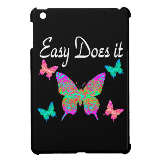 EASY DOES IT PRETTY BUTTERFLY DESIGN iPad MINI COVERS
