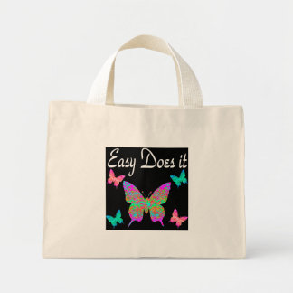 EASY DOES IT PRETTY BUTTERFLY DESIGN MINI TOTE BAG