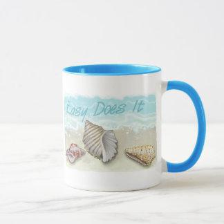 Easy  Does It Seashell Mug