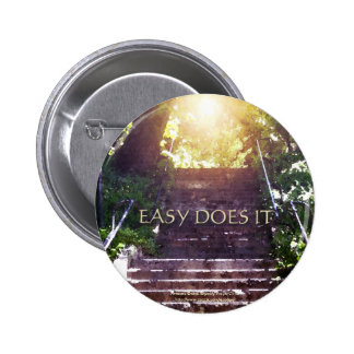 Easy Does It Steps Pinback Button