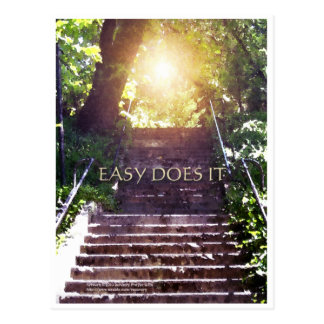 Easy Does It Steps Post Card