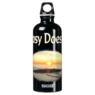 EASY DOES IT SUNRISE DESIGN ALUMINUM WATER BOTTLE