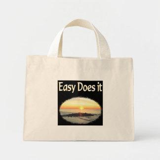 EASY DOES IT SUNRISE DESIGN MINI TOTE BAG