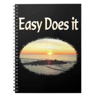 EASY DOES IT SUNRISE DESIGN SPIRAL NOTEBOOK