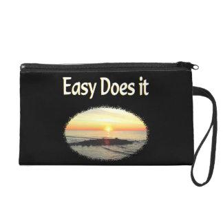 EASY DOES IT SUNRISE DESIGN WRISTLET PURSE