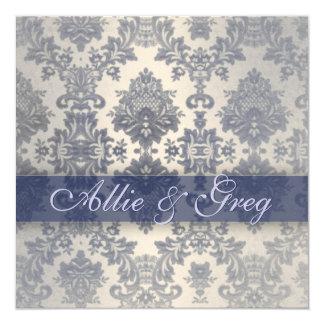 "Easy, Elegant Couples bridal Shower template 5.25"" Square Invitation Card"