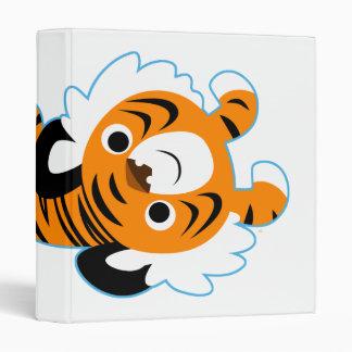 Easy-Going Cute Cartoon Tiger Avery Binder