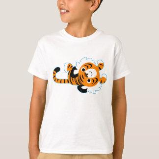 Easy-Going Cute Cartoon Tiger Children T-Shirt