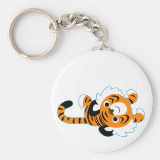 Easy-Going Cute Cartoon Tiger Keychain