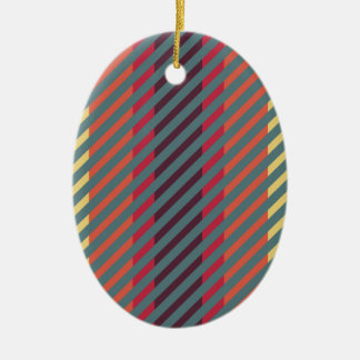 Easy Going Striped Colors Ceramic Ornament