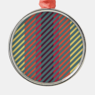 Easy Going Striped Colors Metal Ornament
