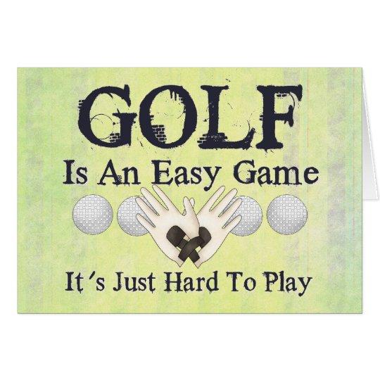 Easy Golf Card