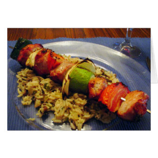 Easy Grilled Shish Kebab Recipe Note Card
