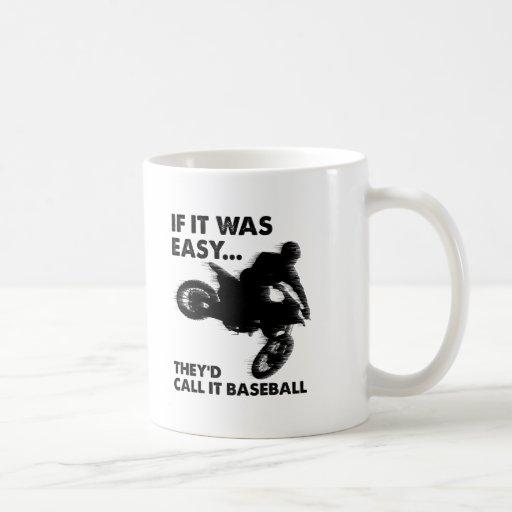 Easy is Baseball Funny Mug