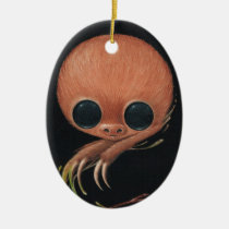sloth, sugarfueled, sugar, fueled, michael, banks, coallus, paint, cute, big, eye, rainbow, Ornament with custom graphic design