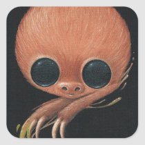 sloth, sugarfueled, sugar, fueled, michael, banks, coallus, paint, cute, big, eye, rainbow, Sticker with custom graphic design