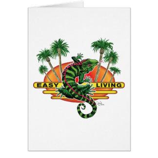 Easy Living Lizard on the Beach Card