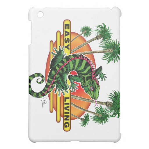 Easy Living Lizard on the Beach iPad Mini Cases