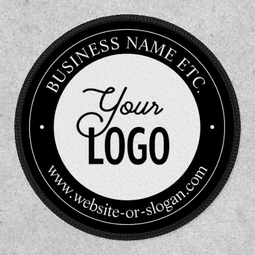 Easy Logo Replacement  Customizable Text  Black Patch