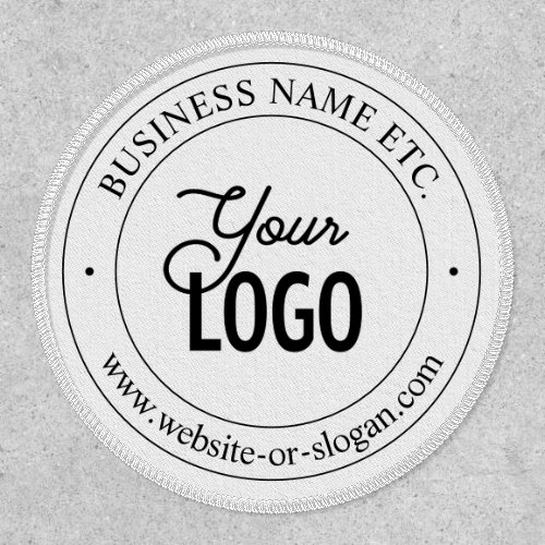Easy Logo Replacement  Customizable Text  White Patch