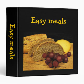 Easy Meals Recipes Binder