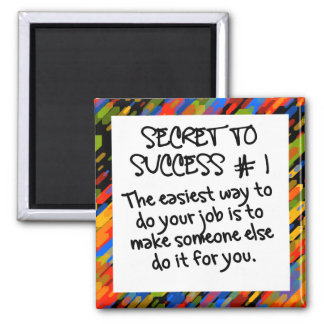 Easy path to success 2 inch square magnet