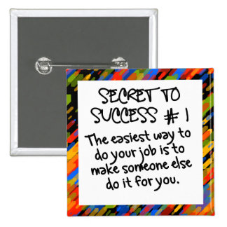 Easy path to success pinback button