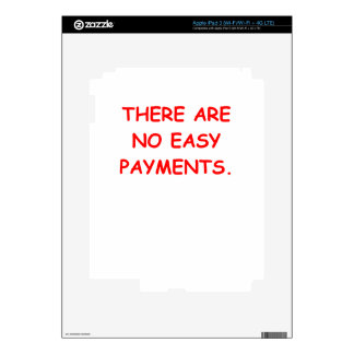 easy payments iPad 3 decals