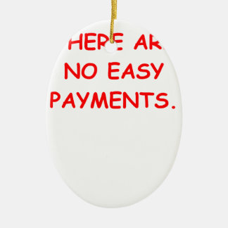 easy payments Double-Sided oval ceramic christmas ornament