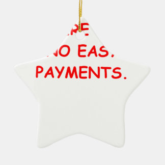 easy payments Double-Sided star ceramic christmas ornament