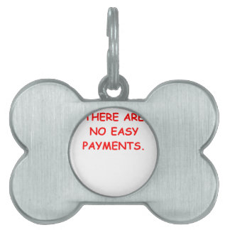 easy payments pet ID tag
