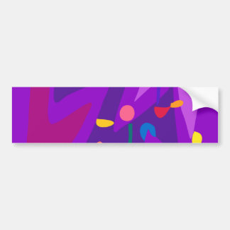 Easy Relax Space Organic Bliss Meditation15 Car Bumper Sticker