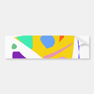Easy Relax Space Organic Bliss Meditation54 Car Bumper Sticker