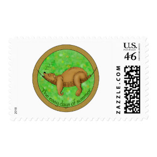 easy summer bear postage stamps