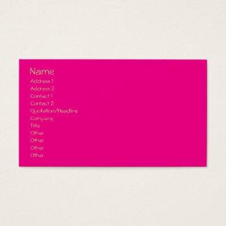 Easy Template, plain hot pink + mandarin orange Business Card