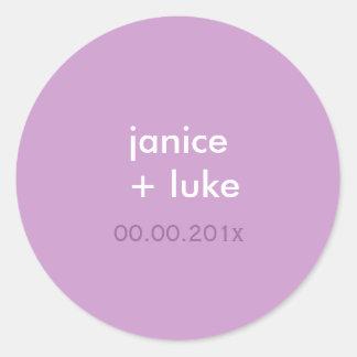 Easy Template stickers/purple/lilac/lavender Classic Round Sticker