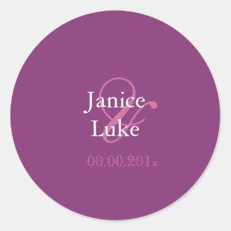 Easy Template stickers/purple/mangosteen Classic Round Sticker