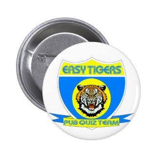 Easy Tiger pub quiz badge Pinback Button