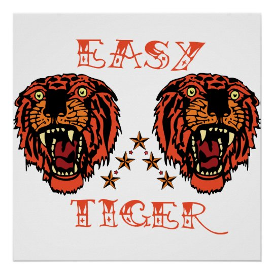 Easy Tiger Tattoo Punk Print