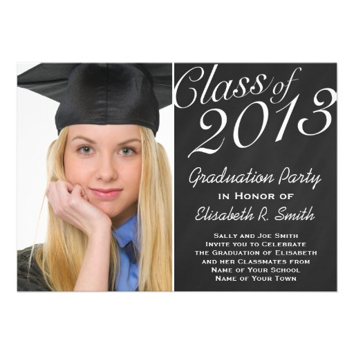 Easy to Customize Graduation Portrait Photo Party Invite