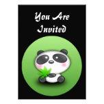 EASY TO CUSTOMIZE - Panda Bear Invitation