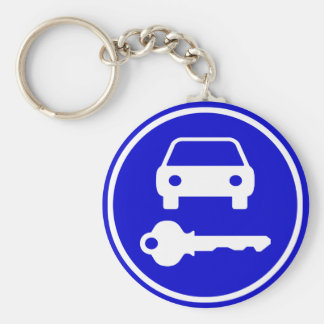 Easy to Find Spare Car Keys with Icons Basic Round Button Keychain