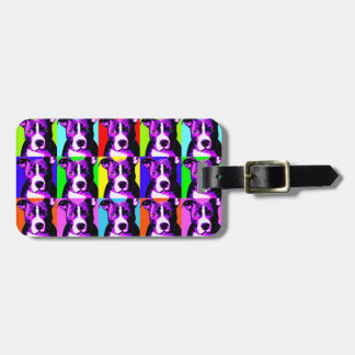 Easy to Spot Colorful Pit Bull Graphic Luggage Tag