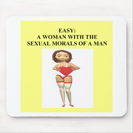 easy woman mouse mat