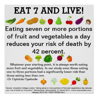 Eat 7 and Live! Poster
